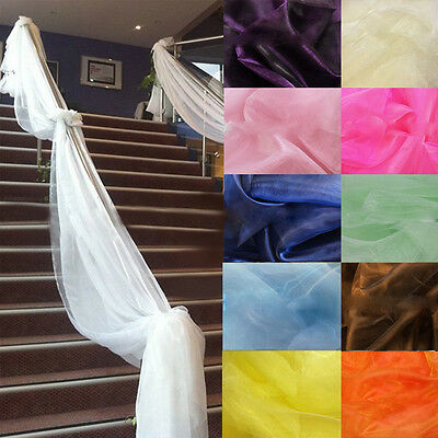 5M Top Table Swags Sheer Organza Fabric DIY Wedding Party Stair Decoration