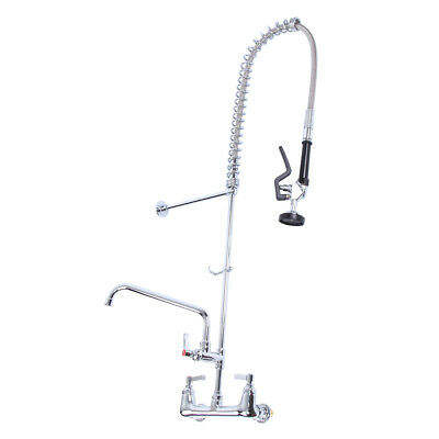 "Commercial Kitchen Copper Pre Rinse Faucet W/ 12"" Add-On Faucet Sink Mixer Tap"
