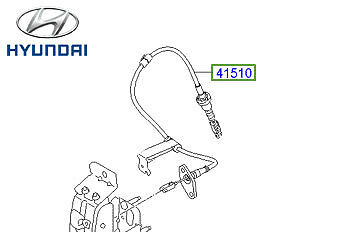 Genuine Hyundai i10 2011-2016 Clutch Cable - 415100X911 Replaces 415100X910