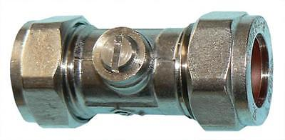 Plumbing Chrome plated brass isolating valve 15mm  (Pack of 10)