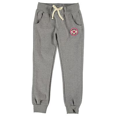 Girls Converse tracksuit bottoms Grey and pink. New sizes 5-6 & 6-7
