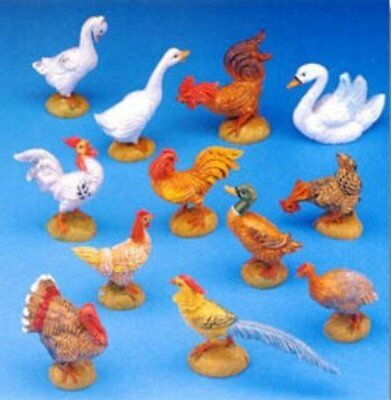 Fontanini Barnyard Birds, New, Free Shipping