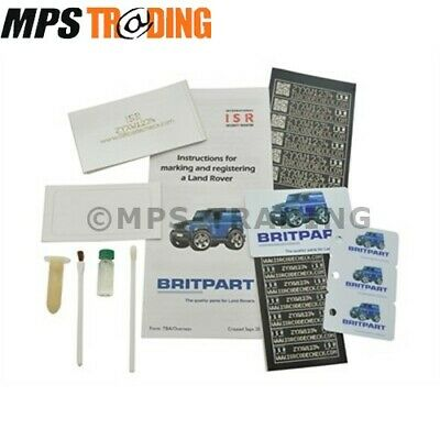 Land Rover Defender 90 110 Isr Unique Anti Theft Security Marking Kit - Da8533