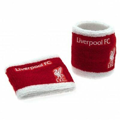 Liverpool LFC Football Club Red White Wristbands Sweatbands Cotton Official