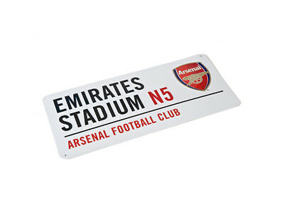 Arsenal FC Gunners Football Club Metal Street Road Sign White Emirates Official