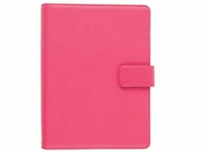 """Tesco Real Leather 7"""" Universal Tablet Case Pink For Use With Hudl + 7"""" Tablets"""