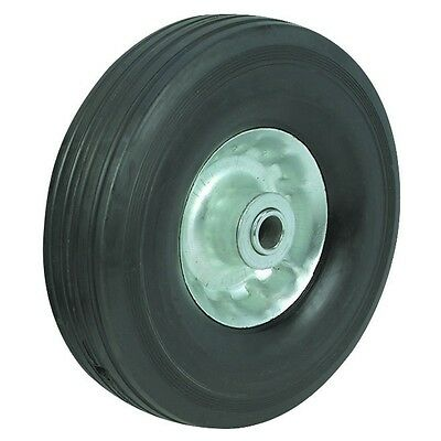 """10"""" In Solid Hard Rubber Replacement Tire Wheel And Rim Hub For Dolly Hand Cart"""