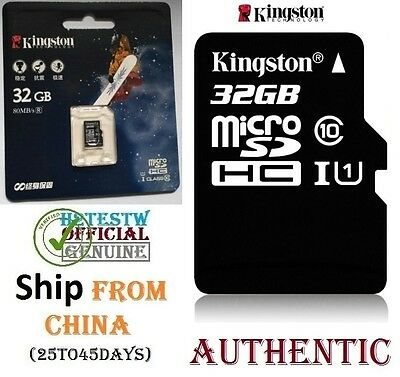 GENUINE Kingston 32GB Micro sd card TF Flash Memory MicroSd SDHC Class 10 REAL !