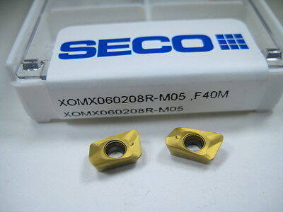 Box ( 10 ) Seco Xomx060208R Face Milling Carbide Inserts End Mill Factory Pack