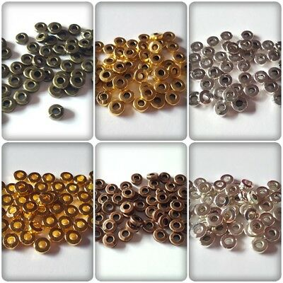 50 x Tibetan Style Spacer Beads - 6mm - Rondelle [Various Colours Available]