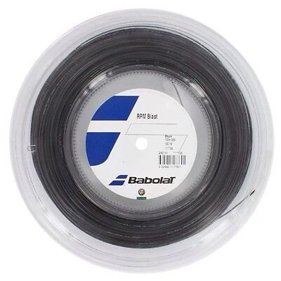 Babolat Rpm  Blast Tennis String - 1.30Mm 16G - 100M Reel  - Black - Rrp £100