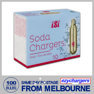 100 Soda Chargers Bulbs Isi 10 Pack X 10 Co2 Carbon Dioxide Syphon Sparkling