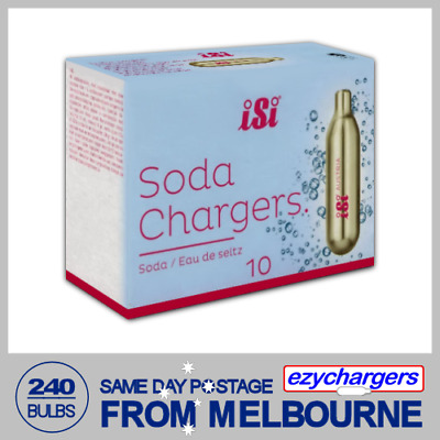 240 Soda Chargers Bulbs Isi 10 Pack X 24 Co2 Carbon Dioxide Syphon Sparkling