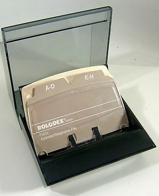 Rolodex S300C Card File Box Petite Covered Address Phone w/ Dividers & Cards