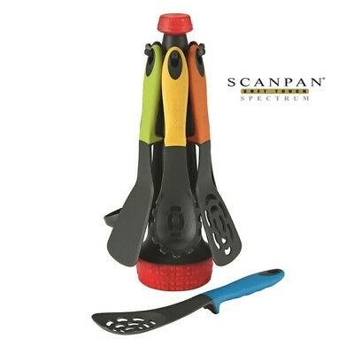 Scanpan Soft Touch Spectrum 7 Piece Balance Tools set with Utensil Stand