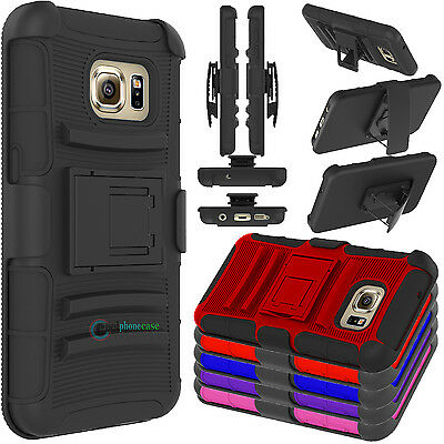 Hybrid Rugged Armor Holster Kickstand Case Cover For Samsung Galaxy S7 /S7 Edge