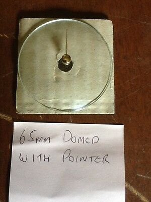 Barometer replacement glass - 65mm Domed with Pointer