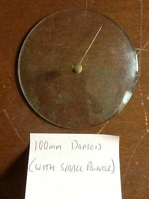 Barometer replacement glass - 100mm Domed with pointer (small knob)