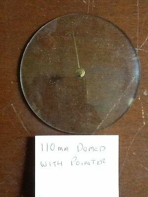 Barometer replacement glass - 110mm Domed with Pointer