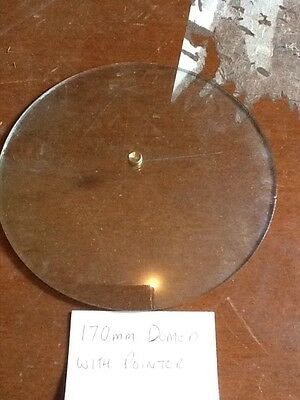 Barometer replacement glass - 170mm Domed with Pointer