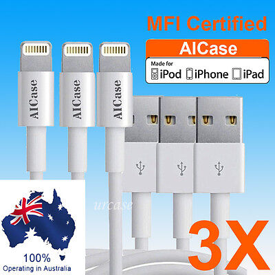 3X AICase Certified Apple MFI Lightning USB Sync Data Cable iPhone XS Max 8 XR 6