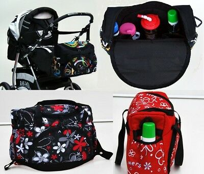 Baby Lux Pram Stroller Changing Diaper Bag With Changing Mat Option 25 Colours