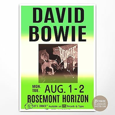 DAVID BOWIE CONCERT POSTER CHICAGO,IL 1983. (bowieslashbackposter)