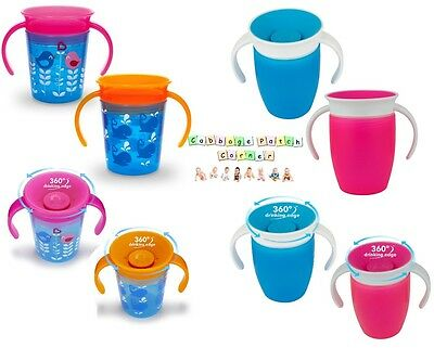 360 Sippy Training Trainer Cup Beaker With Handles/Handled Non Spill/Leak Proof