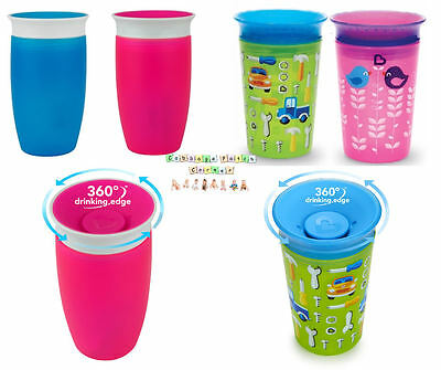 1 or 2 Miracle 360 Sippy Training / Trainer Cup / Beaker Non Spill Leak Proof