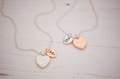 Shaard Personalised Silver Rose Plated Heart Necklace Bracelet Jewellery Charm