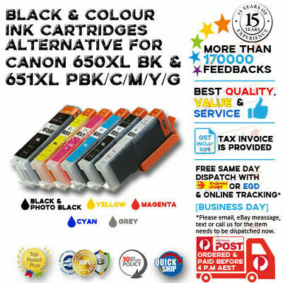 24x Ink Cartridge CLI651 PGI650 With Grey for Canon Pixma MG-7160 MG-7260