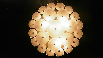 Very Rare Vintage Murano Glass Circles ceiling light lamp chandelier 1960´s