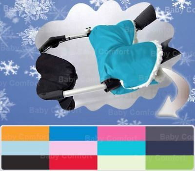 New Pram Hand Warmer Muffs Compatible With Pushchair & Buggy