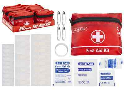 38 Piece First Aid Emergency Kit Car Bike Home Medical Camping Office Travel Bag