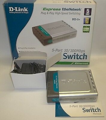 D-Link 5-Port High Speed 10/100 Mbps Ethernet Switch DSS-5+