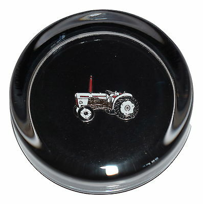 David Brown Vintage Tractor Glass Paperweight! Gift Boxed Farming Gift Office