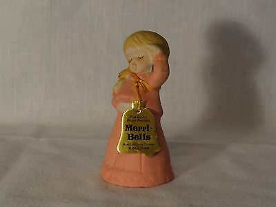 "Jesco 1978 ""Merri-Bells: Sleepy Girl w/ Teddy Bear"" Porcelain Figure/Bell"