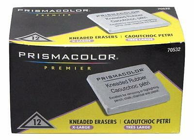 Prismacolor Kneaded Rubber Art Eraser - Pencil Pastel - Extra Large - 12PC 70532