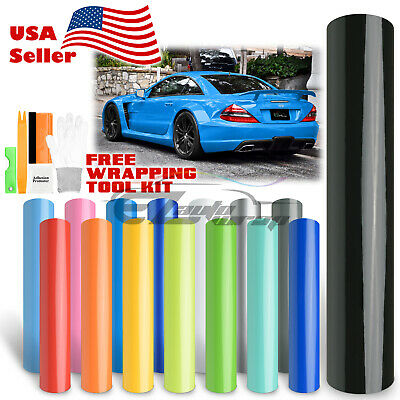 *Premium Gloss Glossy Vinyl Car Auto Wrap Sticker Decal Bubble Free Air Release