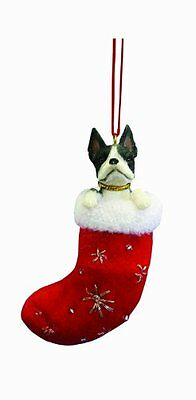 Boston Terrier Stocking Ornament, New, Free Shipping