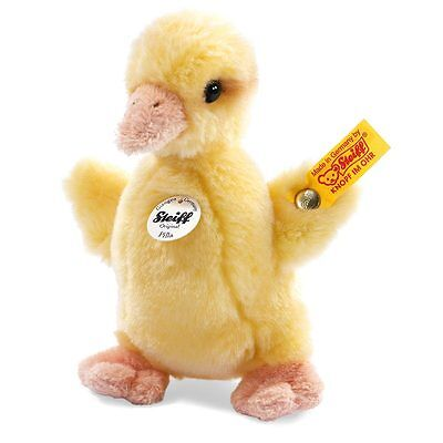 Steiff Plush Pilla Yellow Duckling Stuffed Animal - Easter Baby Shower Gift