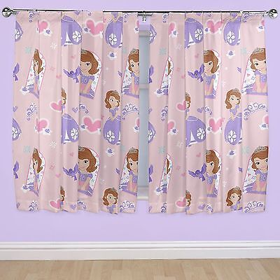 Disney Sofia The First Academy - Ready Made Pencil Pleat Curtains