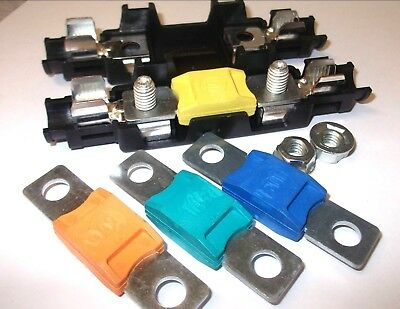mega fuse holder inline car auto suits 100amp - 500amp *FREE FUSE*
