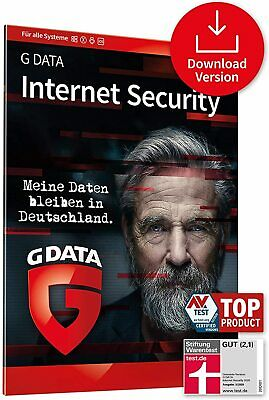 G DATA Internet Security 2018 * 1 PC 1 Jahr * Vollversion * DE Deutsche Lizenz