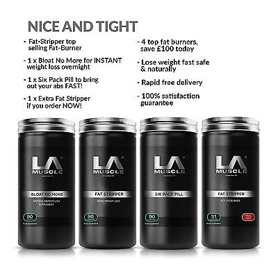LA Muscle Nice And Tight Stack (Fast Weight Loss) RRP £175