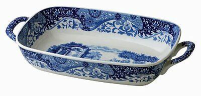 Spode Blue Italian Handled Serving Dish, New, Free Shipping