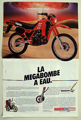 PUB PUBLICITE ADVERTISING MOTO ref2002 TYPE POSTER 2 PAGES /YAMAHA 125 DTLC