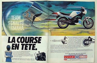 PUB PUBLICITE ADVERTISING MOTO ref2002 TYPE POSTER 2 PG /YAMAHA RD LC 350