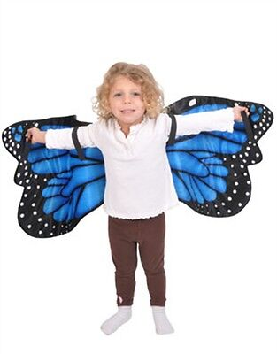 Child Full Length Costume Accessory Blue Butterfly Wings