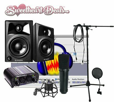 NEW Home recording studio bundle package ART M-Audio Studio Mic FREE SHIPPING!